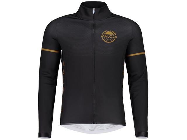 Maloja PushbikersM. 1/1 Langærmet cykeltrøje Herrer sort | Jerseys